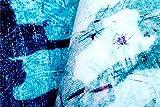 QiXian Lámpara Creativa/Mediterráneo Europeo Simple Degradado de Moda Alfombra Azul Sala de Estar Mesa de café sofá Dormitorio colchón