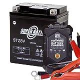 バイクバッテリー STZ8V(シールド型) + バイク用バッテリー充電器 セット(YTZ8V GTZ8V互換)星乃充電器 SUPRE NATTO(スーパーナット)
