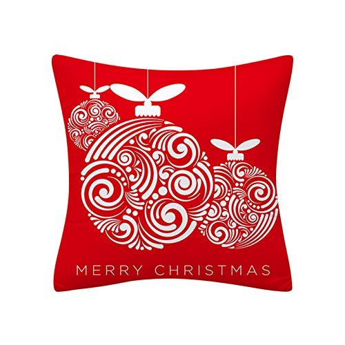 my cat Funda de Cojín de Navidad 45x45 Funda de Almohada Poliéster Feliz Navidad Impreso Sofá Cojines Decorativos Fundas de Almohada Decoración del Hogar Decor-003
