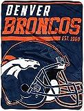 NFL Denver Broncos '40-Yard Dash' Micro Raschel Throw Blanket, 46' x 60'