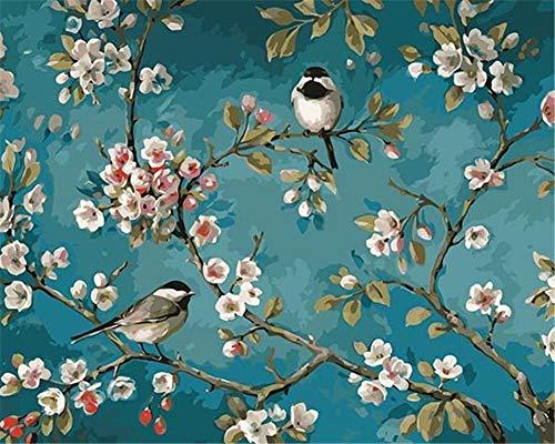SULISO DIY Malen Nach Zahlen Ölgemälde Kits Malerei Bilder Painting by Numbers Öl Wandkunst Home Haus Dekor