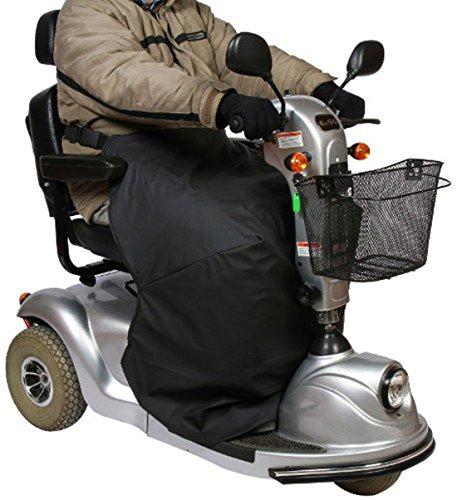 Mobilex Thermo-Kniedecke für Rollstuhl- und Scooterfahrer, schwarz, Beinschutzdecke zum Schutz des Unterkörpers, Sitzbreite 45-52 cm