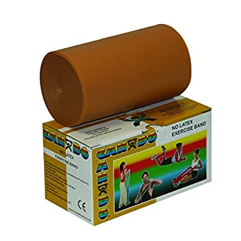 Cando 10-5617 Gold Latex-Free Exercise Band XXX-Heavy Resistance 6 yd Length