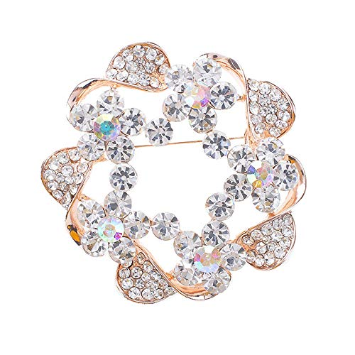 KXBY Creatieve Rose Gold hol Corsage pin Fashion Coat Corsage Broche