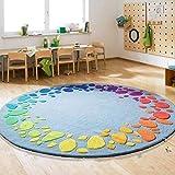 WANG XIN Ronda Alfombras Vida sofá de la Ronda de Alfombra Alfombras de niños del Dormitorio de Noche Hechos a Mano de acrílico Alfombras (Color : 150cm)