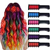 Chnaivy Hair Chalk, Temporary Bright Hair Chalk Comb Washable Hair Dye Perfect Gifts for Girls Kids Party, Cosplay,...