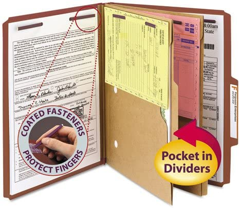 OFFicial site SMD14079 - Smead Pressboard Folders with Two Dividers Pocket 70% OFF Outlet