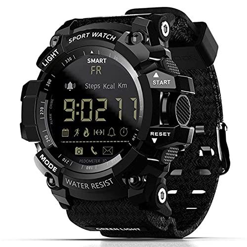 L.B.S MK16 Reloj Inteligente Reloj para Hombres y Mujeres EL Luminous Sports BT Reloj Inteligente Actividad Rastreador de Actividad física Reloj para Android/iOS(D)