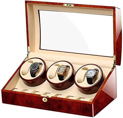 Ronglibai Automatik uhrenbeweger Winder Watch - Automatische Uhrenbeweger Vitrine Aufbewahrungs Uhrenbox Pelz Uhr-automatische Uhrenbeweger Uhr mit Lock-Luxus Individuelle