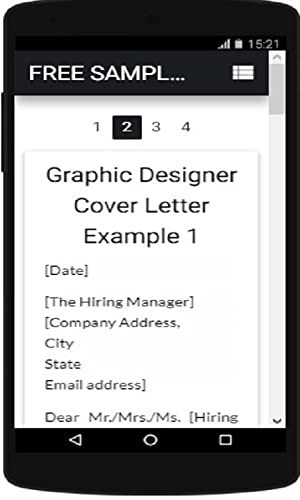 Free Samples Of Cover Letters for 2018