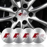 ZGYAQOO 4 Stück Embleme Radnabenkappen Aufkleber Nabendeckel für Audi a3 a4 a5 s4 a6 s6 s7 q3 q5 q7 c5 c6 b7 b8 8p, 56.5mm Ersatzteil Alufelgen Nabenkappen