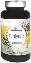 Aloha Medicinals - Pure Cordyceps - Certified Organic Mushrooms – Cordyceps Militaris – Cordyceps Sinensis - Supports Immunity, Energy and Stamina - 525mg - 90 Vegetarian Capsules
