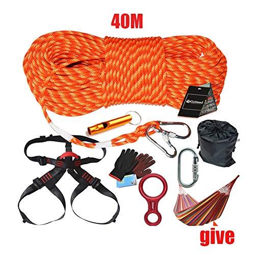 WYX 40 Mt Klettern Kit Outdoor Seil Karabiner Harness Abenteuer Ausrüstung Lebensrettende Notfall Überleben Seil Outdoor Kletterausrüstung