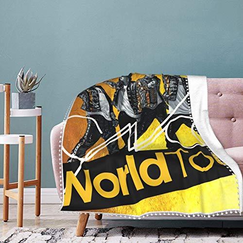 AORSTAR Manta de forro polar ultra suave para cama, coche, camping, sofá, otoño, manta de felpa para adultos o niños, 40 x 30