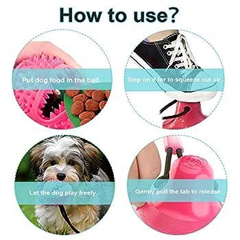 Jouet Pour Chien Avec Ventouse, Pet Chew Toys, Dog Chew Interactive Toys, Cleaning Teeth, Ouet Pour Animal Domestique Avec Fonction de Soins Dentaires