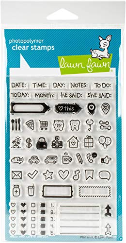 Lawn Fawn Clear Stamps - Plan On It (LF1129)
