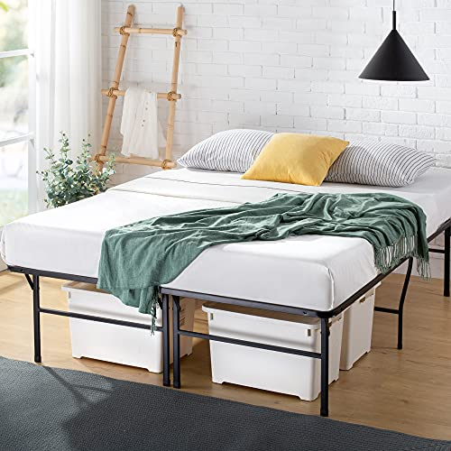 Zinus 18 Inch Premium SmartBase Mattress Foundation / 4 Extra Inches high for Under-bed Storage / Platform Bed Frame / Box Spring Replacement / Strong / Sturdy / Quiet Noise-Free, Full