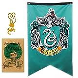 FengHuiSport [27.5'X 49' Gift for Harry Banner Potter Banner Emblem United College Flag | Corvonero | Serpeverde | Grifondoro | Tassorosso | Regalo di Decorazione per Bar per Feste