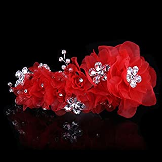 Olici Headdress Accessories/Hair Pins/Party/Prom/Bride/Girls The Aestheticism Silk Yarn Crystal And The Amount Of Flowers Flowers Headwear Hair Ornaments