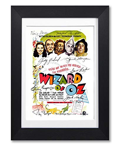 Mounted Gifts The Wizard of Oz Cast Signed A4 Poster Photo Print Framed Autograph Gift Movie Film Judy Garland (POSTER ONLY)