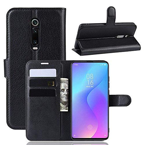 Capa Capinha Carteira 360 Para Xiaomi Mi 9T e Redmi K20 e K20 Pro De Tela 6.39Polegadas Case Couro Flip Wallet Danet (Preto)