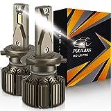 Pulilang Bombillas para Coche H7 LED Bombilla para Faros Delanteros , CSP 3570 70W 10500LM 6000K IP68, Paquete de 2