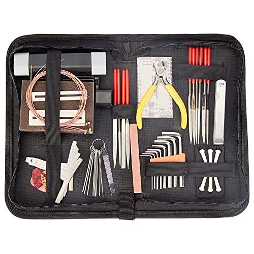 NBEADS Kit de herramientas de mantenimiento de reparación de guitarra, instrumentos de...