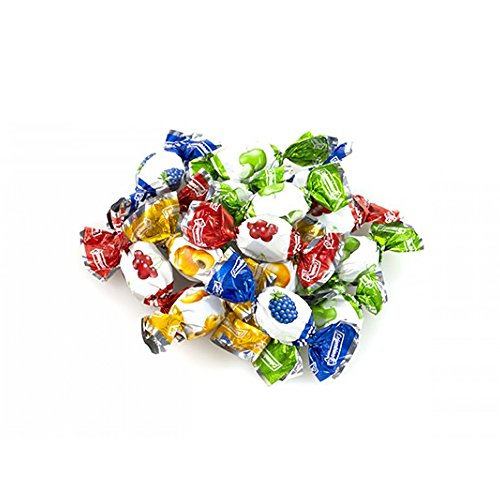 Colombina Fruticas Fruit Filled Assorted Candies, Pack of 12, 2.2lb, 396 Assorted Fruticas Fruit Filled Candy, Individually Wrapped Candy, Ideal for Candy Dishes, Offices & Parties
