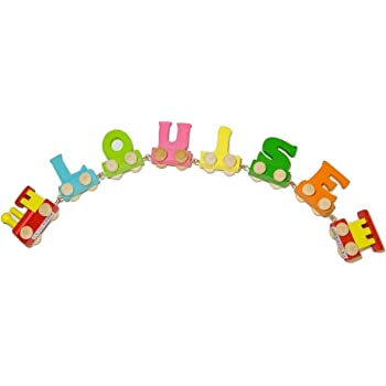 Vinsani Personalised Name Wooden Alphabet Train Letters Includes A Free Magnetic Carriage With Each Letter Letter A