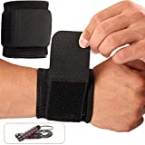 Wrist Brace, 2 PACK Wrist Wraps for Carpal Tunnel for women and men. Wrist Straps for Weightlifting, Working Out and Pain Relief. Flexible, Highly Elastic, Adjustable, Comfortable, Multi-Functional. 1 PACK Jump Ropes