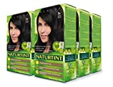 Naturtint Permanent Hair Color 1N Ebony Black (Pack of 6), Ammonia Free, Vegan, Cruelty Free, up to 100% Gray Coverage, Long Lasting Results