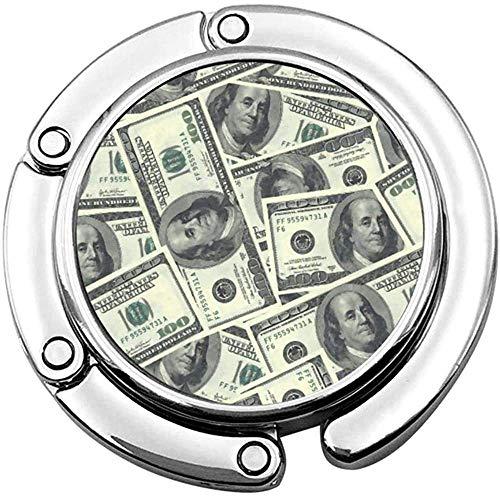 Dollar Bills Faltbare Damen Handtasche Tisch Kleiderbügel Schreibtisch Geldbörse Hakenhalter