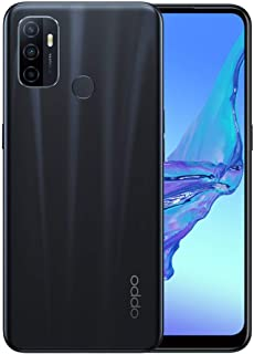 "OPPO A53 Smartphone (Unlocked Version), 13MP AI Tripple Camera, 6.4"" 90Hz Neo-Display, 4GB RAM + 64GB ROM, Electric Black"