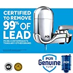 PUR FM-3700 Advanced Faucet Water Filter, Chrome 8 Advanced Faucet Filtration System: Featuring Sinple One Click Tool Free Attachment, There's Never Been an Easier or More Reliable Way to Get Healthier, Cleaner, Great Tasting Water Straight From Your Faucet Faucet Water Filter; PUR faucet filters provide 100 gallons of filtered water, or 2 3 months of typical use, before you need a replacement. Only PUR faucet filters are certified to reduce contaminants in PUR faucet filter systems WHY FILTER WATER? Home tap water may look clean, but may contain potentially harmful pollutants & contaminants picked up on its journey through old pipes. PUR water filters, faucet filtration systems & water filter pitchers reduce these contaminants