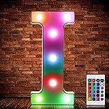 Luces de Símbolo de Número Letra Alfabeto LED Iluminado Colorido con Interruptor de Control Remoto...