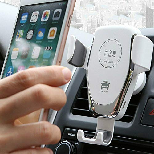 SJI - Cargador de coche inalámbrico para iPhone Se2020/11/Promax/XS Max/XS/XR/X/8/8+, Samsung Galaxy Note S8/S9/S10+, dispositivos habilitados para Qi