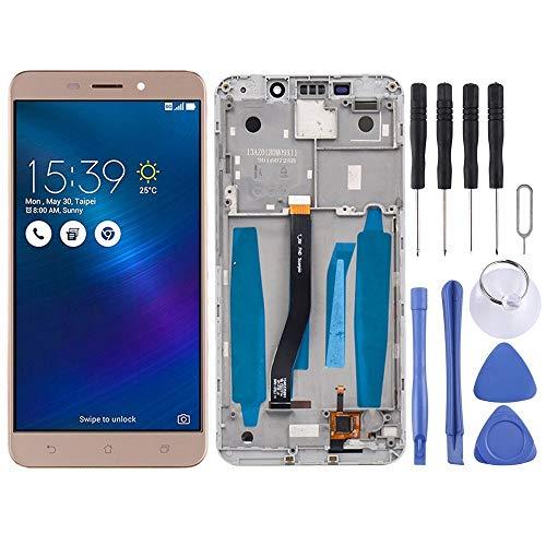 TAIQIXI Asamblea QIX Pantalla LCD Y Digitalizador Asamblea con Marco Completo For ASUS ZenFone 3 Láser ZC551KL Z01BD (Negro) Pantalla (Color : Gold)