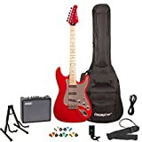 Sawtooth ST-ES-CARC-KIT-3 ST Style Electric Guitar with ChromaCast Gig Bag & Accessories, Candy Apple Red