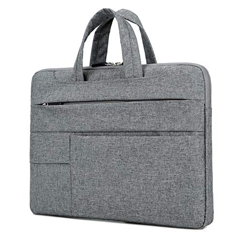 15.6-inch Laptop Sleeve, Water Resistant Laptop Briefcase, Computer and Tablet Carrying Bag for Men Women with Handle, Compatible Dell, HP, Asus, Acer, MacBook Pro, Lenovo (Dull Grey)