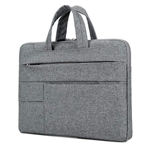 STONCEL Laptop-Umhängetasche, 13 Zoll (33 cm), schlank, wasserfest, groß, multifunktional, Messager, Aktentasche für Notebooks, MacBook, iPad Grau dunkelgrau 13 IN