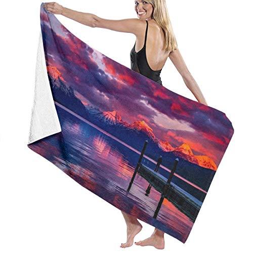 Sula-Lit Toallas de baño Lake Mcdonald Montana, Toalla de Playa, Piscina, Gimnasio, 80 x 130 cm