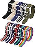 10 Pieces Nylon Watch Band Watch Straps...