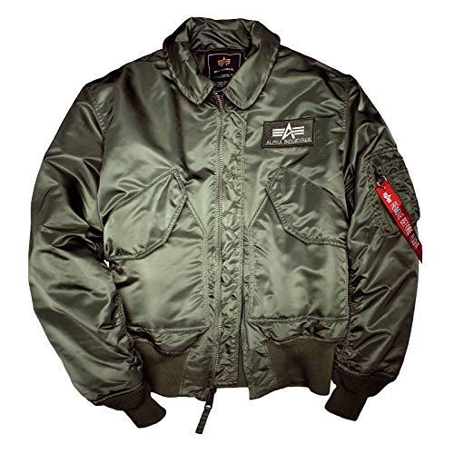 Alpha Industries Flight Jacket CWU 45, Größe:XXL;Color:sage green