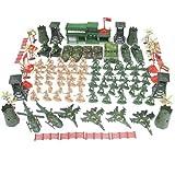 SH-Flying Soldatini Giocattoli Militari- Serbatoio, Aereo, Elicottero, Campo di Battaglia Simulazione Action Figures, Giocattoli per Bambini, 122 Pezzi