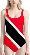 Foruidea Trinidad and Tobago Flag One Piece Swimsuits UV Protection Bathing Suit Swimwear for Women