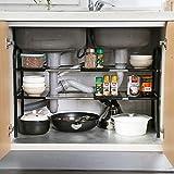 Sous évier étagère sous Evier Rack etagère de rangement cuisine Support d'évier en acier...