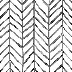 cheap HaokHome 96020-1 Modern Striped Wallpaper Peel  Herringbone Black  White Vinyl Self…