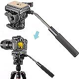 Neewer Fluid Videokopf Videoneiger Stativkopf Kugelkopf mit Schnellwechselplatte für DSLR-Kameras