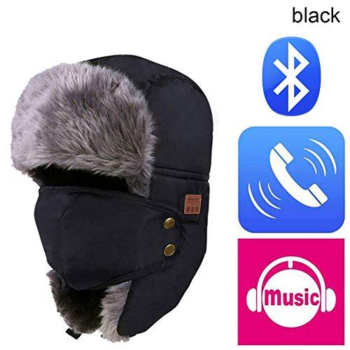 Preisvergleich Produktbild SchlussverkaufFeeilty Bluetooth-Bomberhut,  Trooper Trapperhut Eingebaute HD-Stereo-Lautsprecher und Mikrofon mit wiederaufladbarem USB-Anschluss für Winter Fitness Outdoor-Sport