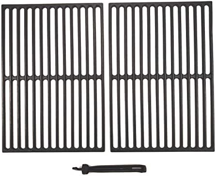 BBQSTAR BBQ Grill Grate 17 1 4 inch Matte Cast Iron Cooking Grate with Grate Lifter for Weber product image